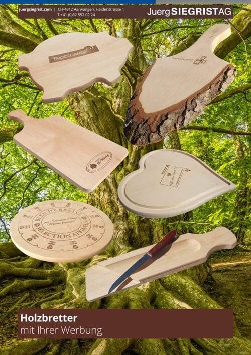 Holzbrättli mit Ihrem Logo und Design gestaltet