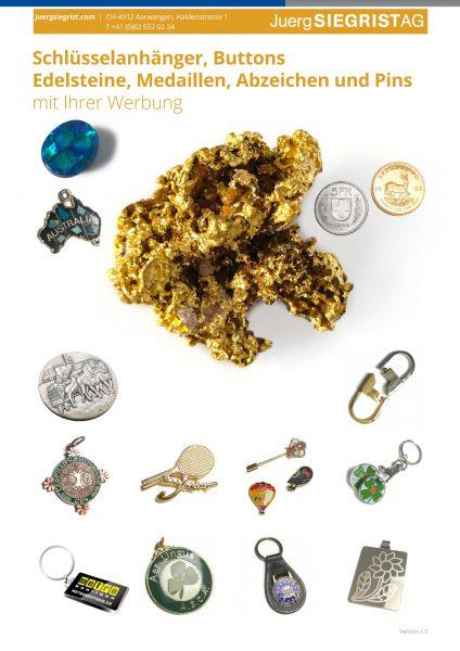 Katalog Medaillen Gold fälschungssicher machen