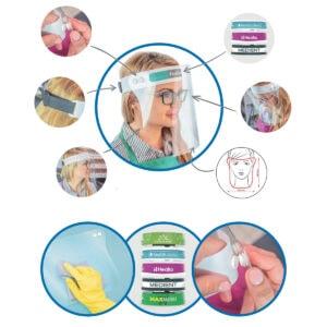 Gesichtsschutz- Visier verstellbar und leicht zu reinigen