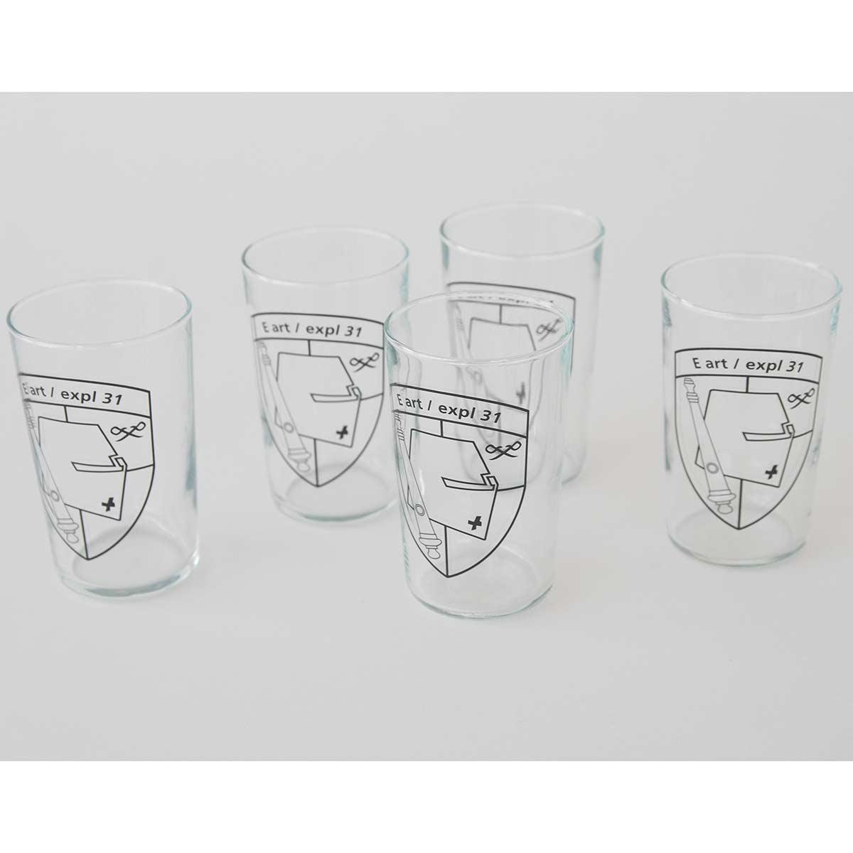 Juerg Siegrist AG - Weissweinglas, kleines Glas spülmaschinenfest bedruckt
