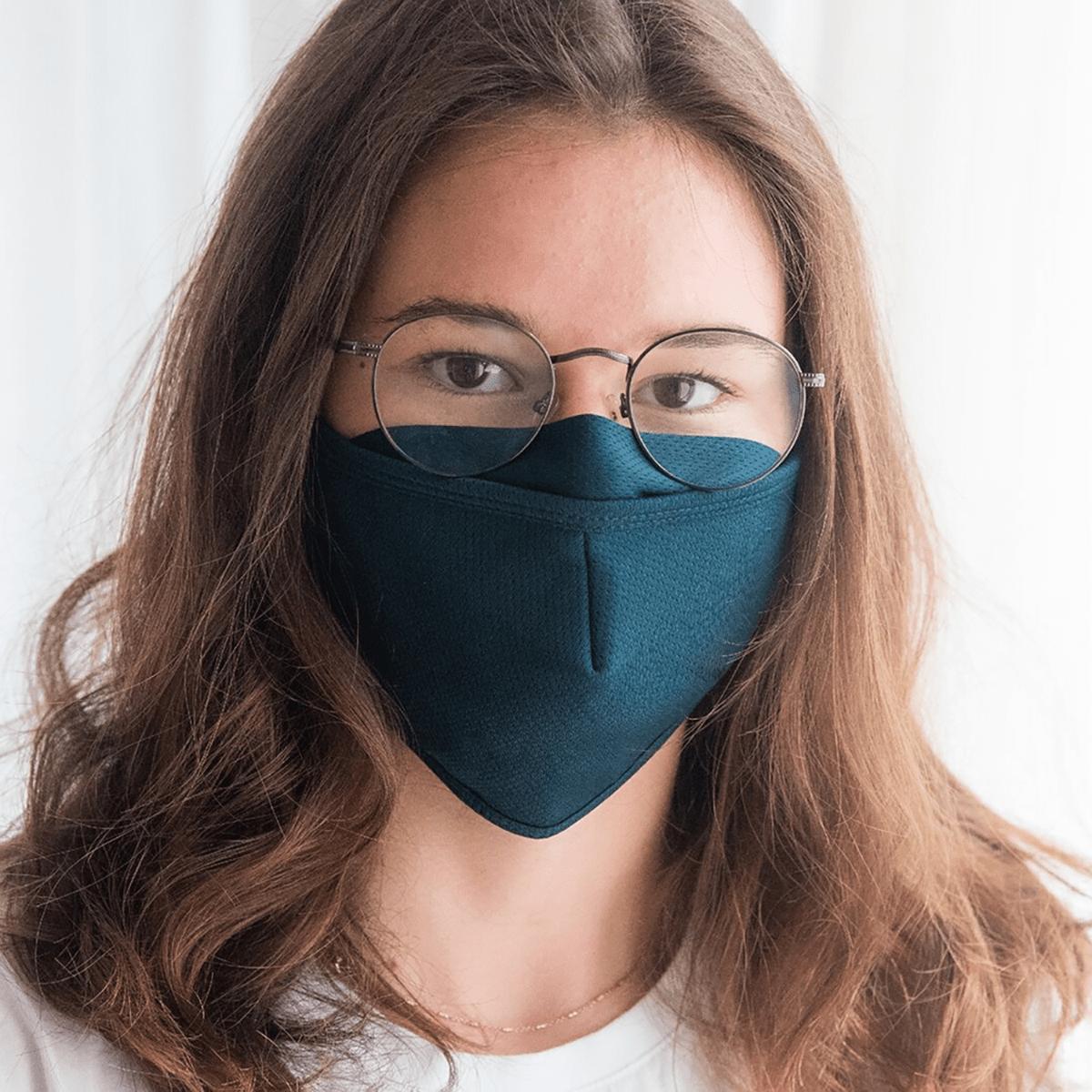 Juerg Siegrist AG - Textile Maske Pantone 547C dunkelblau