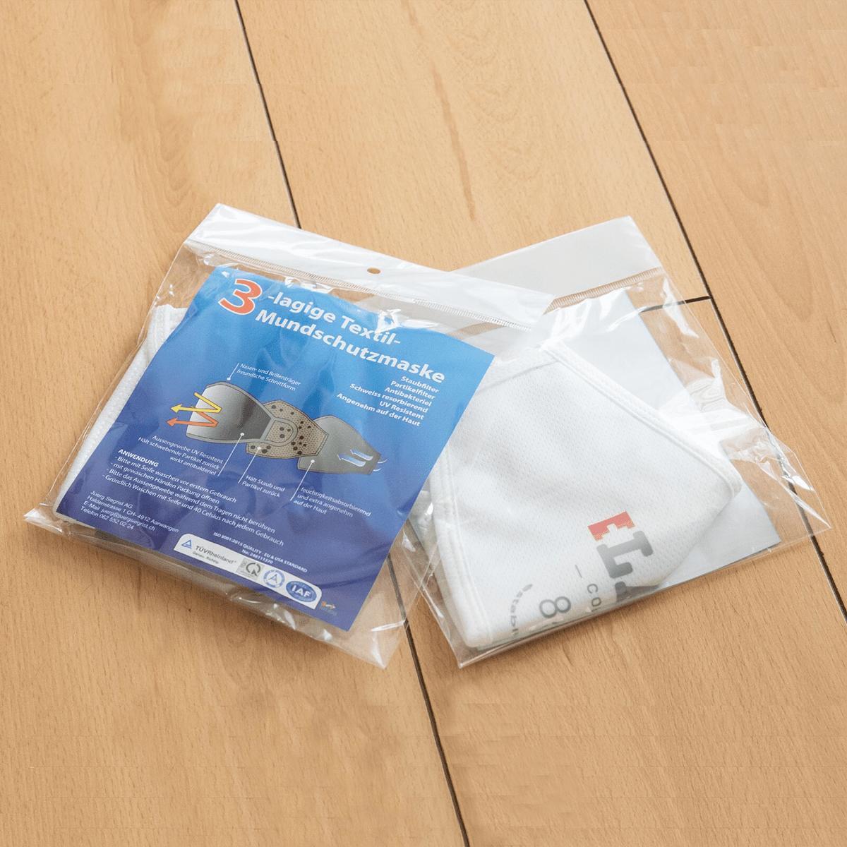 Juerg Siegrist AG - Bedruckte Textile Komfort Gesichtsmaske