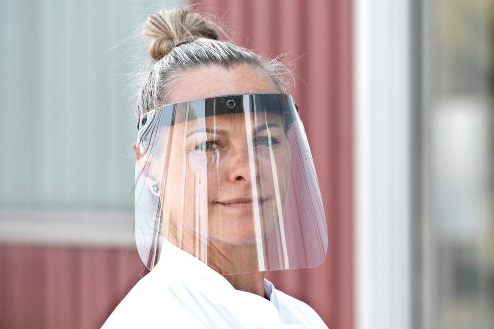 Gesichtsschutz-Visier mit Ihrem Logo bedruckt